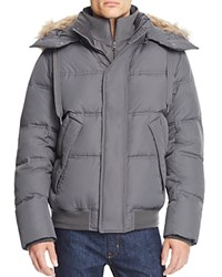 Marc New York Rockport Hooded Down Parka Fog