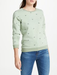 Maison Scotch Classic Artwork Sweatshirt Light Green
