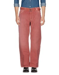 Jaggy Casual Pants Brick Red