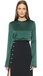 Thierry Mugler Long Sleeve Top Forest
