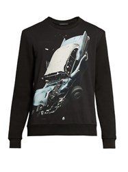 Christopher Kane Car Crash Print Sweatshirt Black Multi