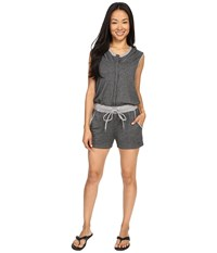 Zobha Sleeveless Hoodie Jumper W Open Cross Back Heather Black Women's Jumpsuit And Rompers One Piece