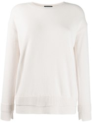 Luisa Cerano Double Hem Jumper White