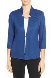 Ming Wang Women's Mandarin Collar Knit Jacket