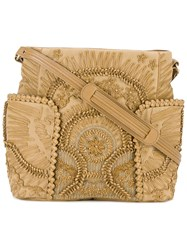 Jamin Puech Leather Appliqued Shoulder Bag Women Cotton Leather Pvc One Size Nude Neutrals