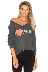 Wildfox Couture Hello Lover Top Charcoal