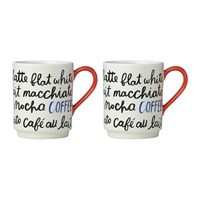 Kate Spade 'Piping Hot' Coffee Mugs Set Of 2