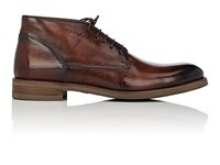 John Varvatos Varick Leather Chukka Boots Dk.Brown