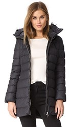 Add Down Fur Trim Wool Puffer Coat Grey Melange