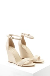Forever 21 Faux Leather Ankle Strap Wedges