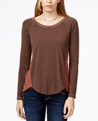 Miss Me Colorblocked Inset Back Top