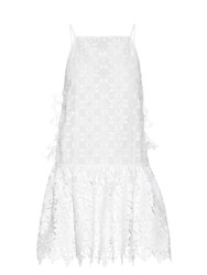 N 21 Square Neck Macrame Lace Dress White