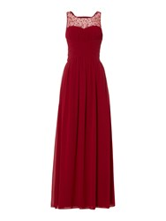 Little Mistress Beaded Top Maxi Dress Wine