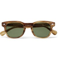 Moscot Gelt Square Frame Acetate Sunglasses Light Brown