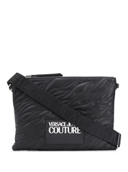 Versace Jeans Couture Quilted Logo Clutch Bag Black