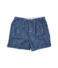 Tommy Bahama Big Tall Island Washed Cotton Woven Boxer Tonal Palm Navy Floral Men's Underwear Blue