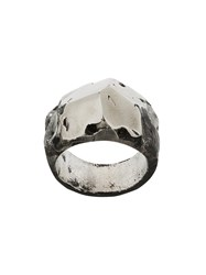 Lost And Found Ria Dunn Faceted Tonal Ring Stainless Steel Metallic