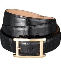 Cartier Porosus Crocodile Leather Buckle Belt Black