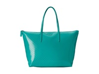 Lacoste L.12.12 Glossy Large Shopping Bag Porcelain Green Handbags