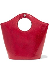 Elizabeth And James Market Shopper Small Patent Textured Leather Tote