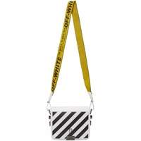 Off White Diagonal Binder Clip Flap Bag
