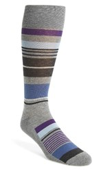 Nordstrom Men's Men's Shop Bright Stripe Socks Medium Grey Heather