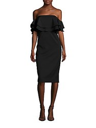 Keepsake Two Fold Ruffled Dress Black