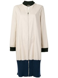 Jean Paul Gaultier Vintage Colour Block Zipped Coat Neutrals