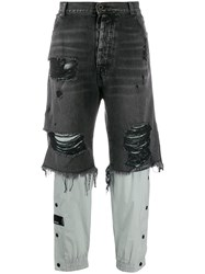 Unravel Project Distressed Jeans Black
