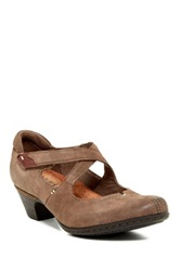 Cobb Hill Avery Mary Jane Leather Pump Gray