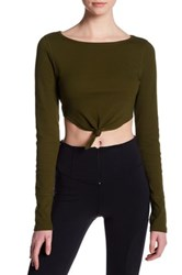 Free People New Wave Crop Top Green