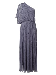 Jacques Vert Jvs One Shoulder Gown Grey