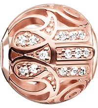 Thomas Sabo Karma Beads Fatima's Hand 18Ct Rose Gold Plated Bead