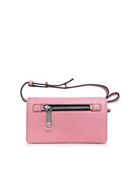 Marc Jacobs Pink Fleur Gotham Wallet W Leather Strap