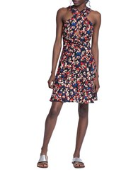 Tracy Reese Floral Halterneck Silk Dress Ditsy Floral