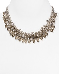 Abs By Allen Schwartz Smoky Cluster Necklace 16 Silver