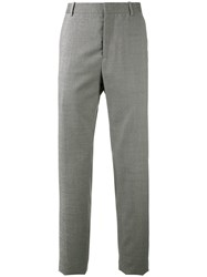 Oamc Logo Patch Tailored Trousers Grey