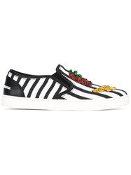 Dolce And Gabbana London Slip On Sneakers Black