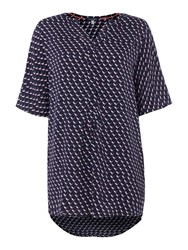 Joules V Neck Pull Over Tunic Navy