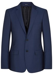 Alexander Mcqueen Blue Wool Blend Jacket Bright Blue