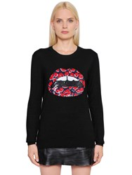 Markus Lupfer Sequined Merino Wool Knit Sweater