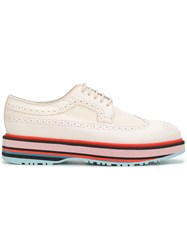 Paul Smith Grand Platform Brogues Nude And Neutrals