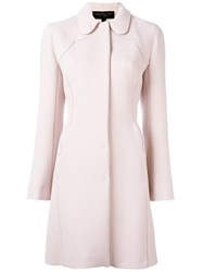 Giambattista Valli Textured Flared Coat Pink Purple