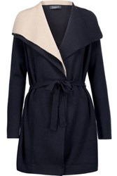 Magaschoni Draped Cashmere Cardigan Midnight Blue