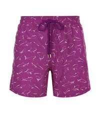Vilebrequin Mistral Embroidered Shark Swim Shorts Male Purple