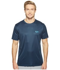 Mountain Hardwear Wicked Short Sleeve Tee Navy Men's T Shirt Blue