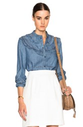 A.P.C. Stevy Blouse In Blue