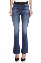 Women's Karen Kane Pull On Stretch Bootcut Jeans Blue
