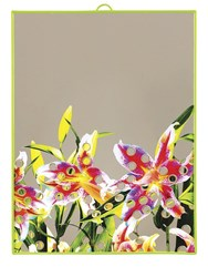 Seletti Large Flower With Holes Printed Mirror Multicolor