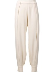 Haney 'Alice' Side Slit Trousers White